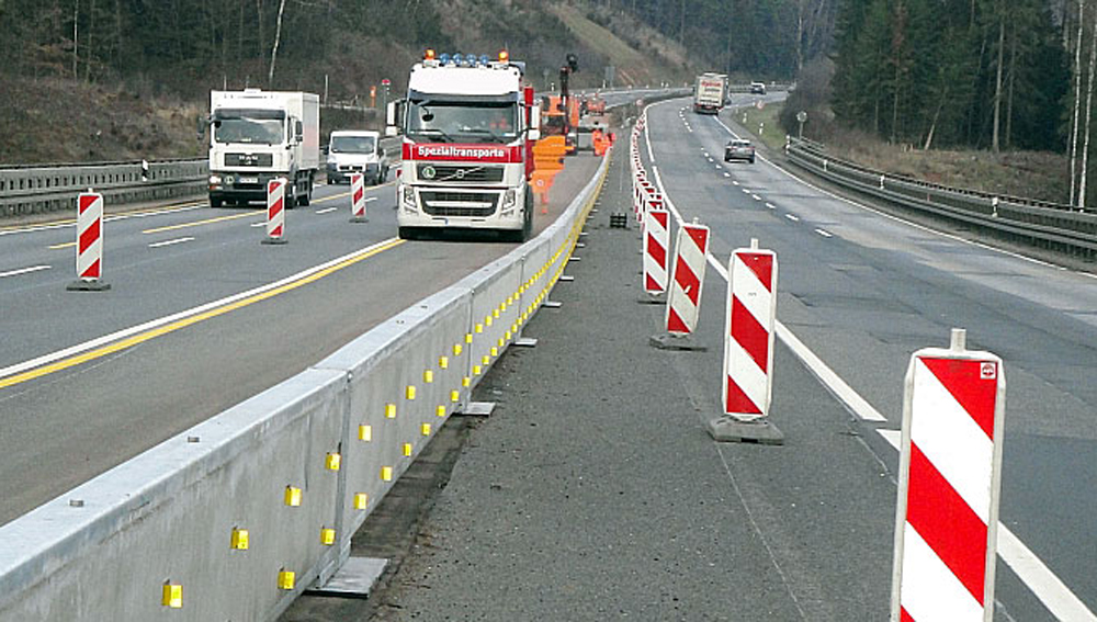Road barriers banner